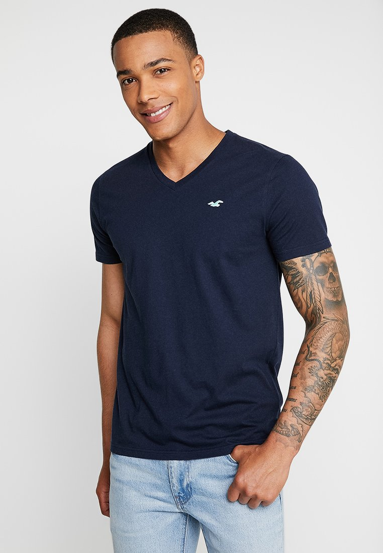 Hollister Co. - ICON VARIETY - Basic T-shirt - navy/mint