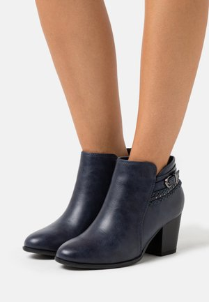 WIDE FIT WHAM - Ankle boots - navy