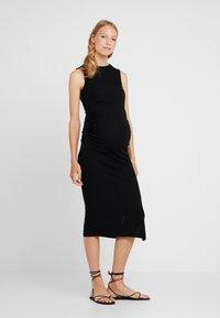 Topshop Maternity - RUCHED SIDE DRESS - Robe en jersey - black - 0