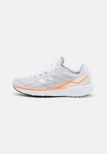 SL20.2 SUMMER.READY  - Neutrala löparskor - footwear white/silver metallic/screaming orange