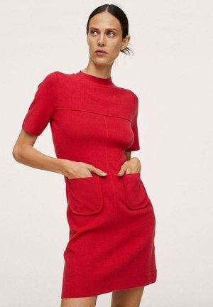BOLSILLOS - Jumper dress - rojo