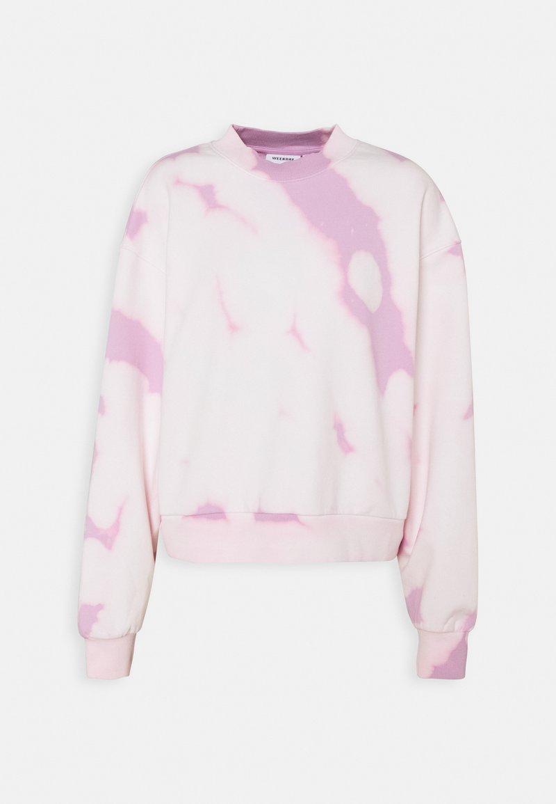 Weekday - AMAZE PRINTED - Sweatshirt - pink tie dye