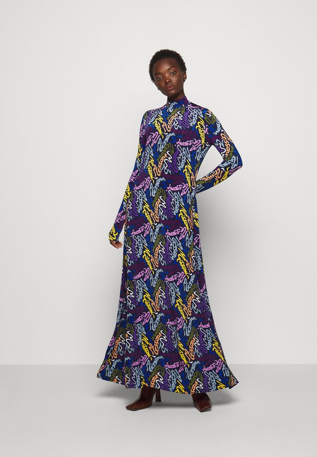 ABITO LUNGO - Maxi dress - dark blue/ multi-coloured