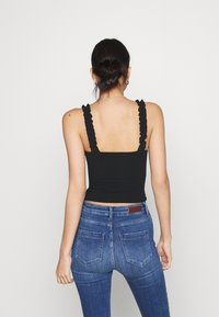 Hollister Co. - RUFFLE STRAP CAMI - Top - black - 2