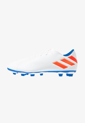 NEMEZIZ MESSI 19.4 FXG - Moulded stud football boots - footwear white/solid red/football blue