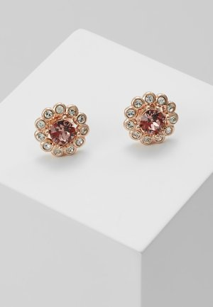 DAISY CRYSTAL STUD - Earrings - rose gold/pink multi