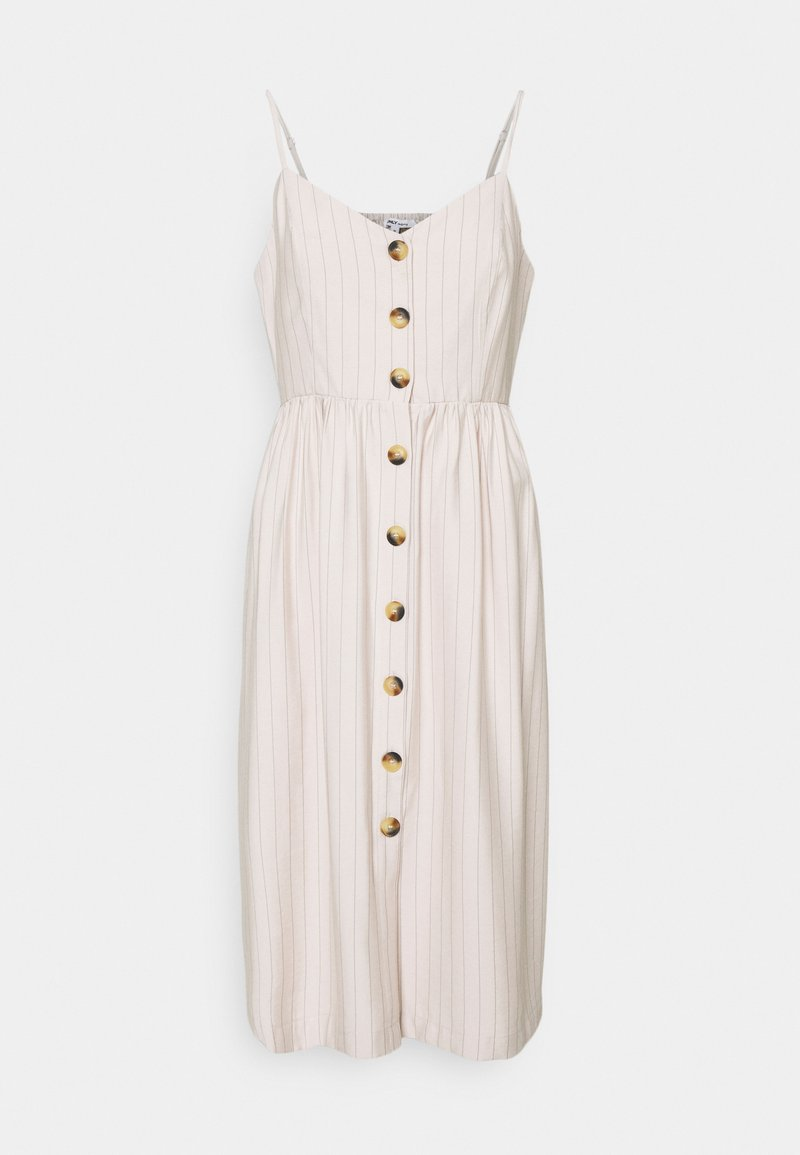 ONLY - ONLCUMA CALLY STRIPE DRESS  - Day dress - mushroom/black