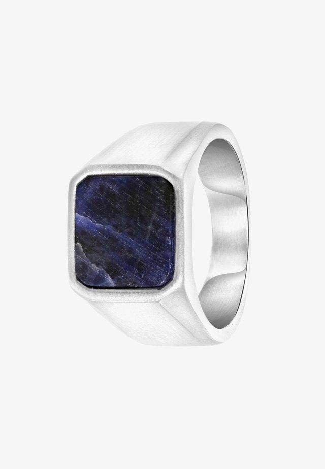 Ring - zilverkleurig/blauw