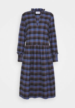 ALLEY DRESS - Denní šaty - royal blue check