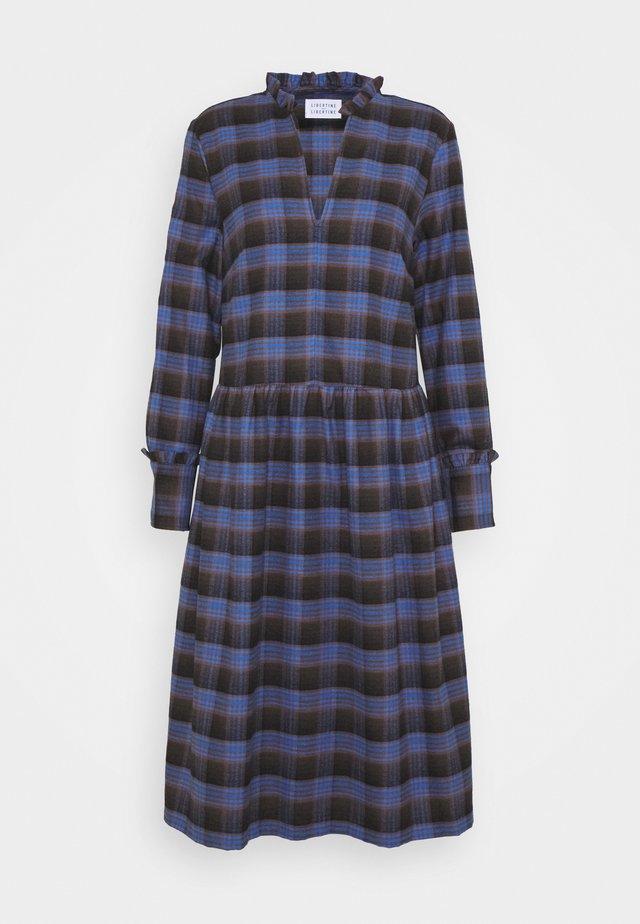 ALLEY DRESS - Hverdagskjoler - royal blue check