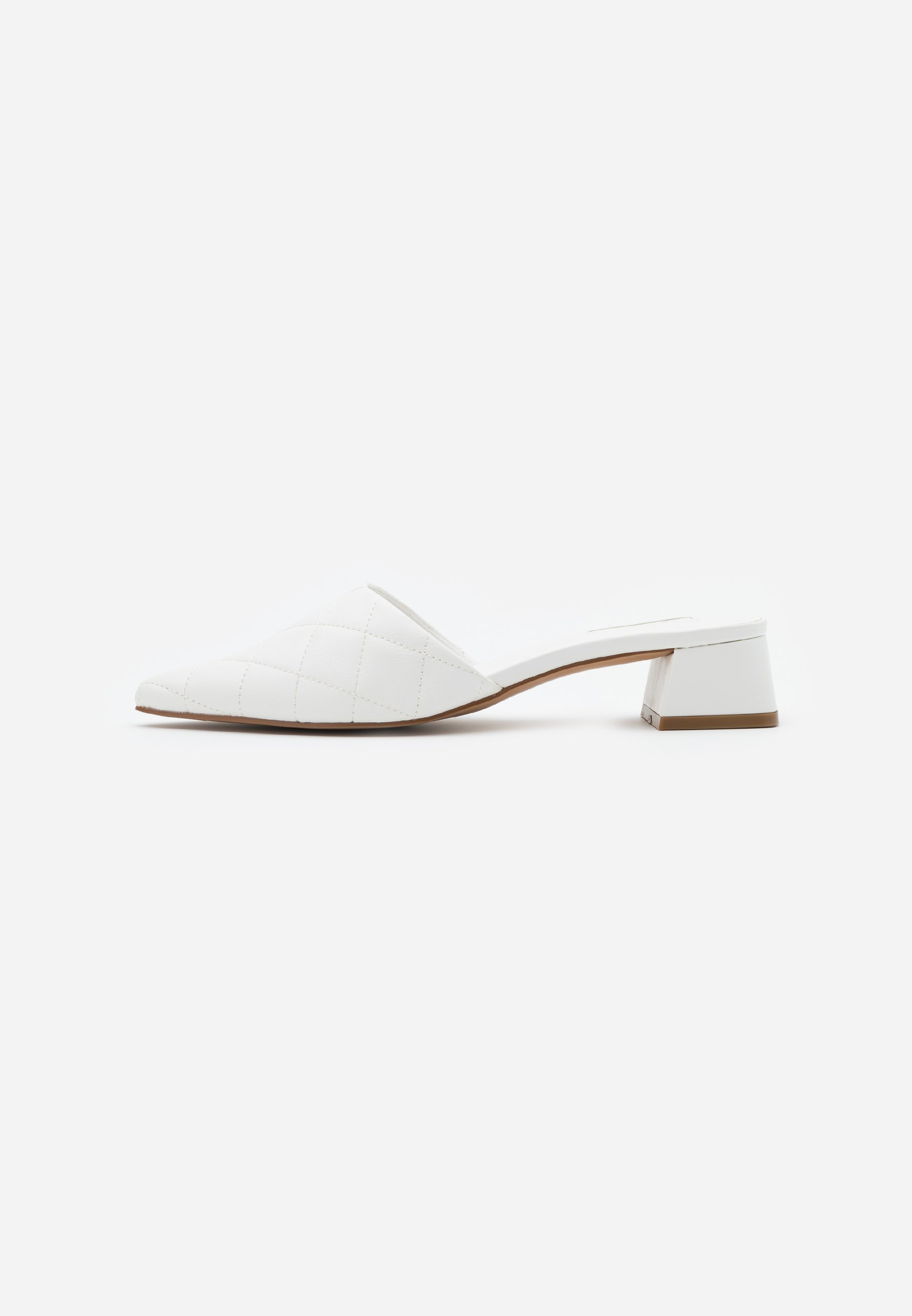 Topshop Lola Quilted Mule Top Up - Sandaler White