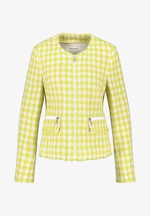 Summer jacket - light lime off white gemustert