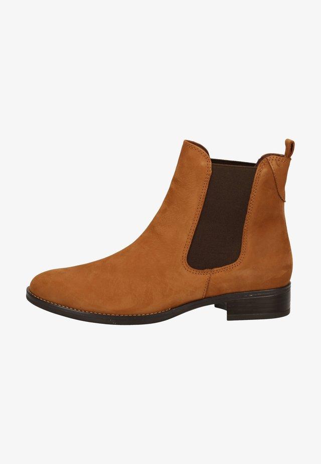Ankle boot - cognac nubuc