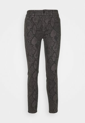 FLORENCE ANKLE MID RISE - Jeansy Skinny Fit - grey/black