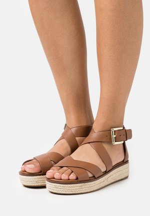 DARBY - Platform sandals - luggage