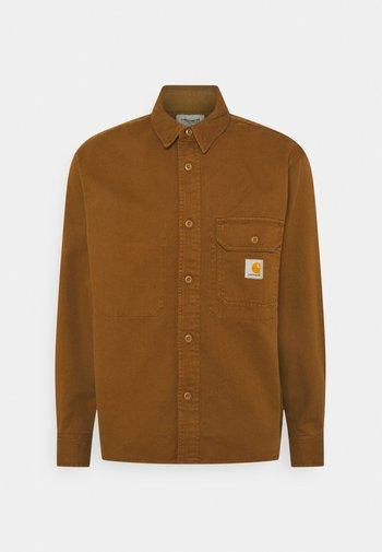 RENO SHIRT - Overhemd - dark brown