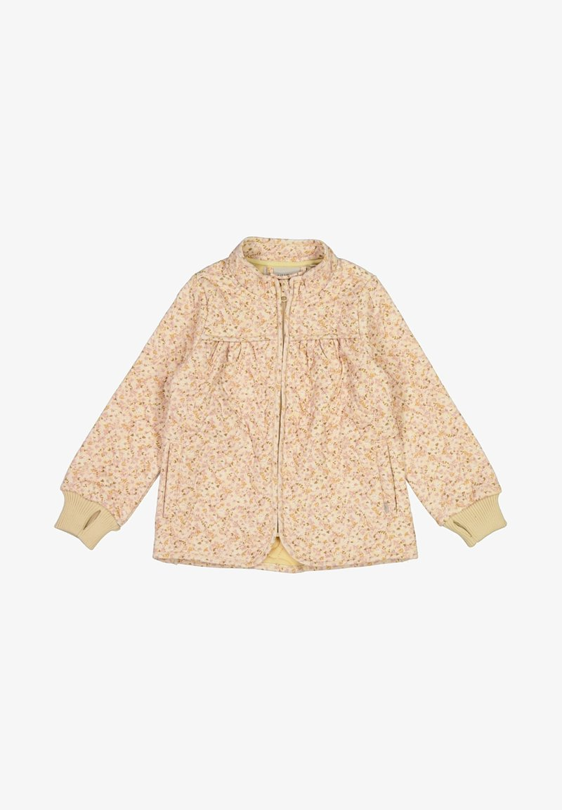 Wheat - THERMO THILDE - Winterjas - soft beige flowers