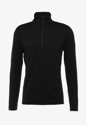 HALF ZIP - Undershirt - black