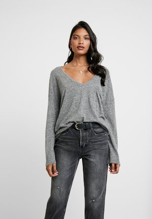 LONG SLEEVES - Topper langermet - medium grey melange