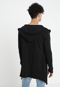 Urban Classics - LONG HOODED OPEN EDGE - Sweatjacke - black