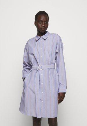 STRIPED BUTTON UP SHIRT DRESS - Shirt dress - blue/multi