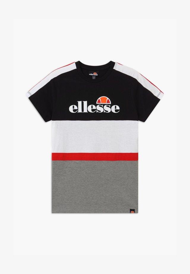 ARDINTA - T-shirt imprimé - black/white/grey