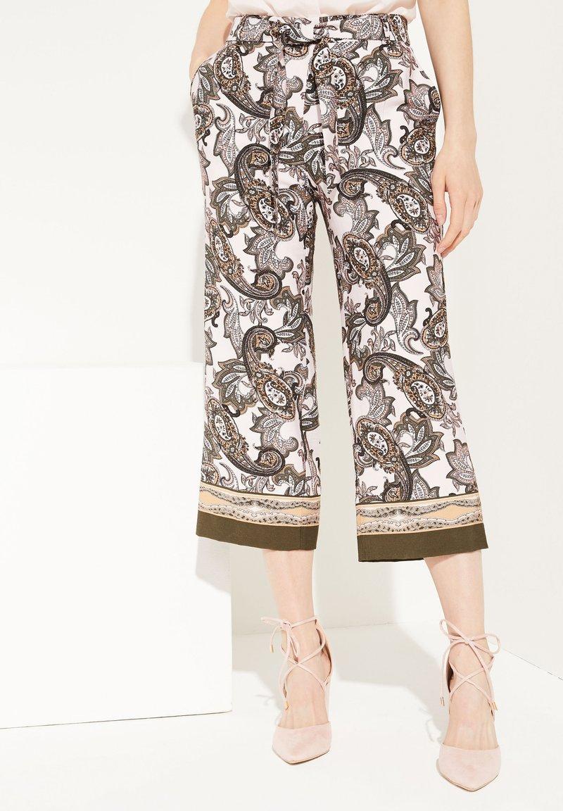 comma - Trousers - beige aop