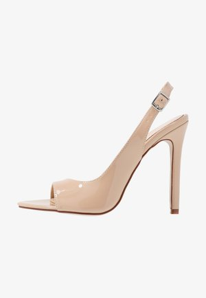 BRISA - High heeled sandals - nude