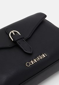 Calvin Klein - FLAP CROSSBODY - Across body bag - black - 3