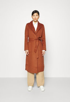 COAT HANDMADE - Classic coat - burned umber orange