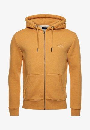 LABEL CLASSIC - Zip-up sweatshirt - ochre marl