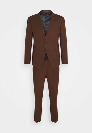 HOPSACK - Dress - rust brown