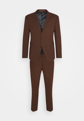 HOPSACK - Suit - rust brown