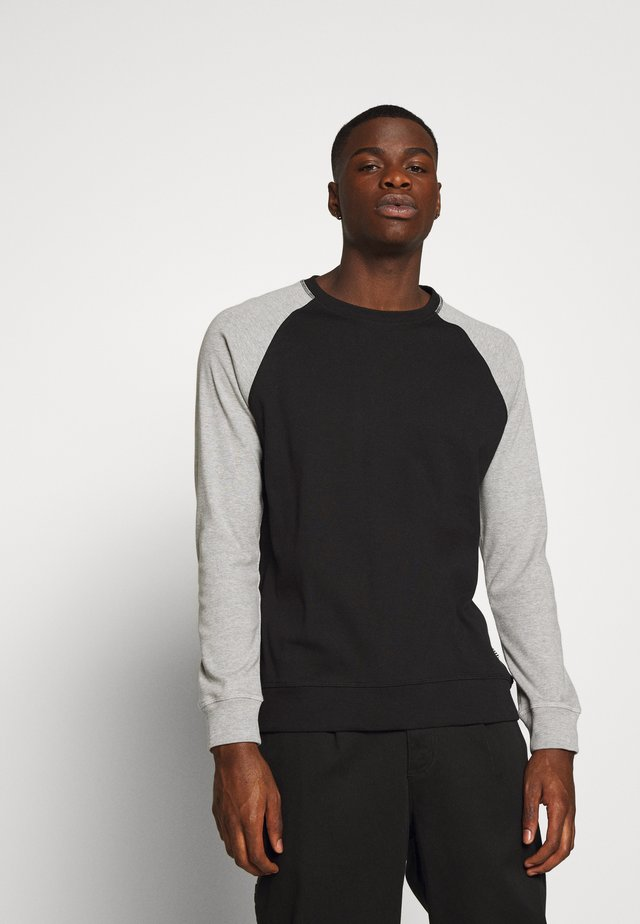 Sweatshirt - black - grey melange