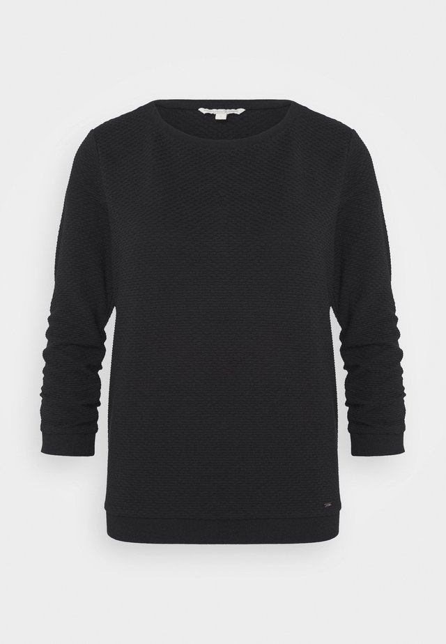 STRUCTURED - Sweater - deep black