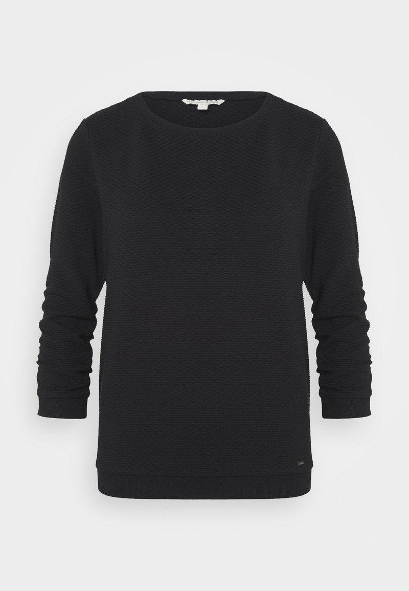 TOM TAILOR DENIM - STRUCTURED - Sweatshirt - deep black