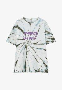 PULL&BEAR - Print T-shirt - mottled light grey - 4