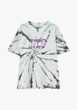 T-shirt imprimé - mottled light grey