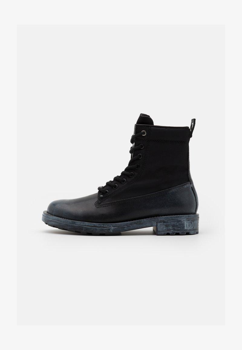Diesel - THROUPER D-THROUPER DBBZ BOOTS - Lace-up ankle boots - black
