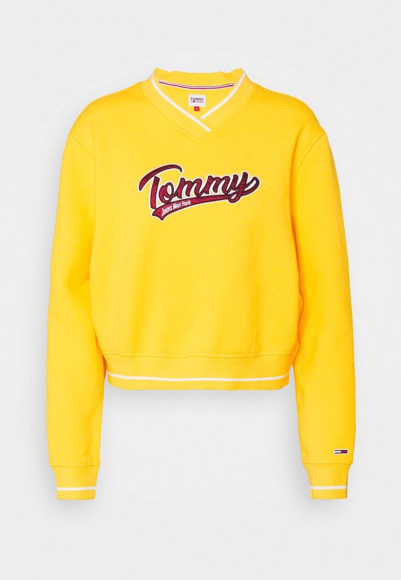Tommy Jeans - VNECK - Sweatshirt - star fruit yellow