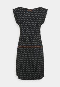 Ragwear - TAG CHEVRON - Žerzejové šaty - black - 6