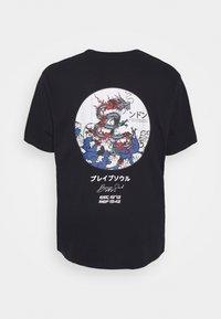 Brave Soul - Print T-shirt - dark blue - 1