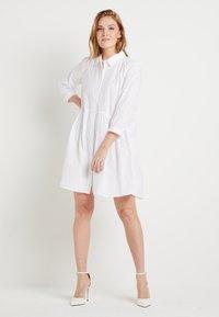 Kaffe - KADALE - Shirt dress - optical white - 1