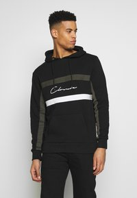 CLOSURE London - BAND STRIPE HOODY - Hoodie - black - 0