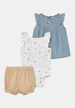 SET - Triko s potiskem - blue denim