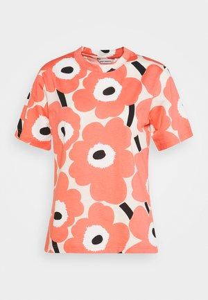 CLASSICS KAUTTA UNIKKO  - Print T-shirt - beige/rose/black