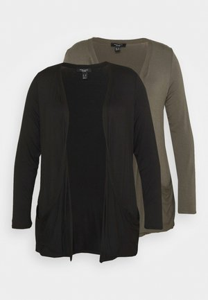 DROP POCKET CARDI 2 PACK - Kardigan - black