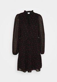 Vila - VIPLISSEAMESY DRESS - Day dress - black - 0
