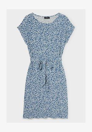 Jersey dress - white / light blue