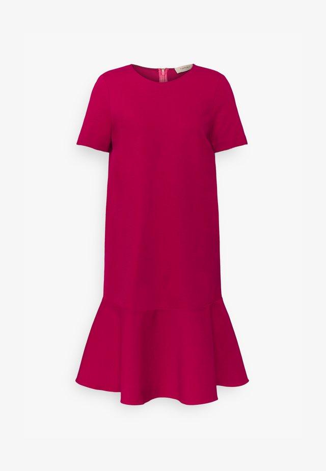 Jerseykleid - cerise